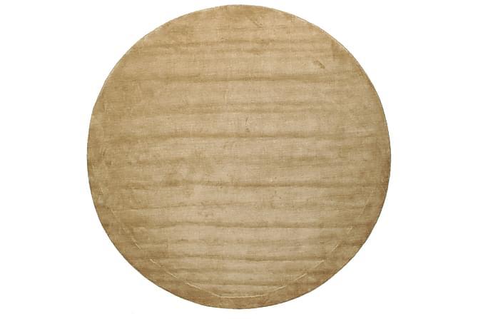 Suuri Pyöreä matto Handloom Ø300 - Beige - Sisustustuotteet - Matot - Yksiväriset matot