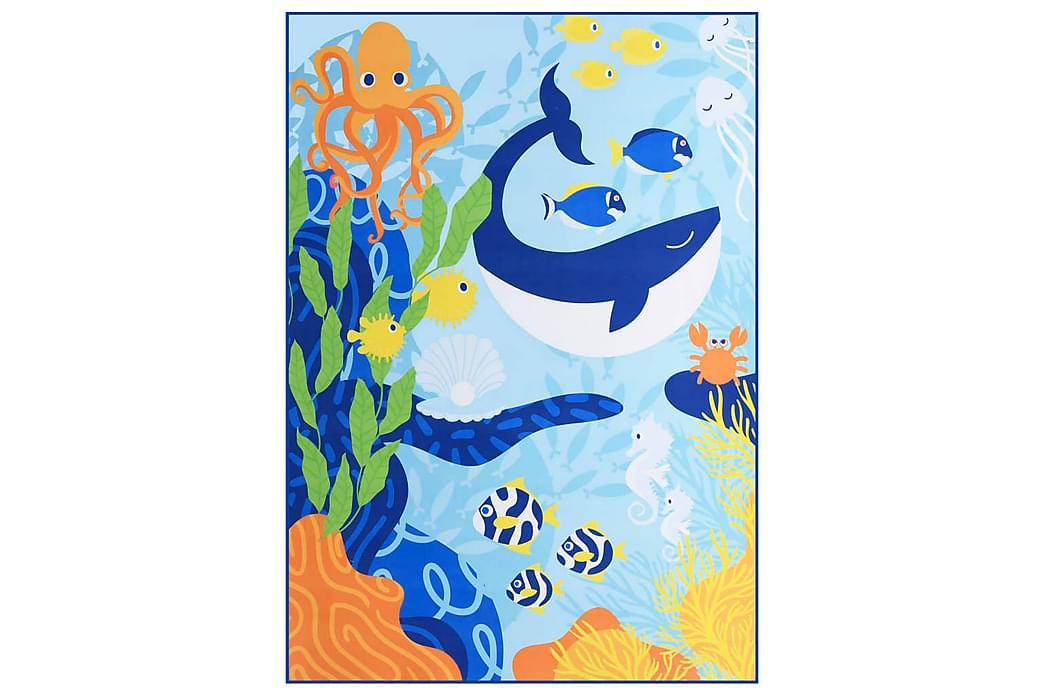Painatettu matto monivärinen 80x150 cm kangas - Monivärinen - Sisustustuotteet - Matot