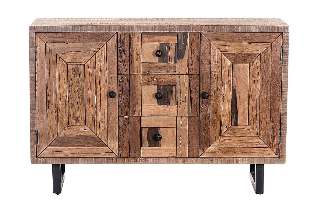 Apupöytä Escomb - Puu/Luonnonväri/Musta - Sisustustuotteet - Pienet kalusteet - Tarjotinpöydät & pienet pöydät