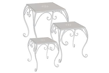Pikkupöytä 3 kpl Kulmikas Valkoinen