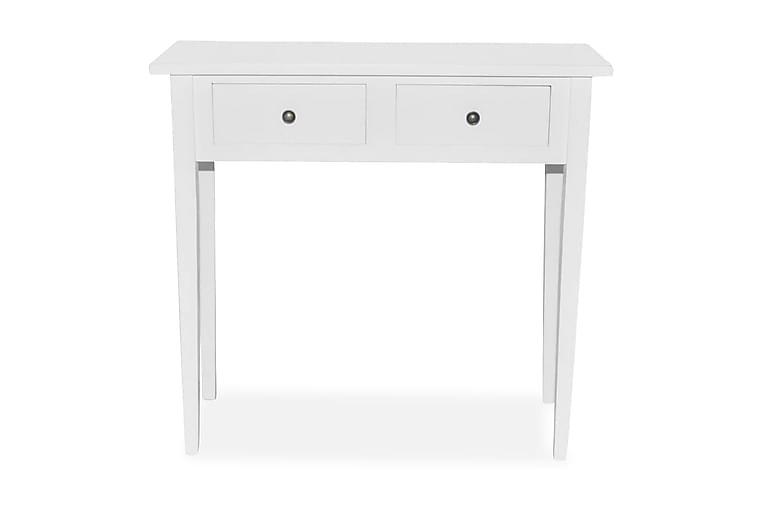 Sivupöytä 2 laatikkoa Valkoinen - Valkoinen - Sisustustuotteet - Pienet kalusteet - Tarjotinpöydät & pienet pöydät