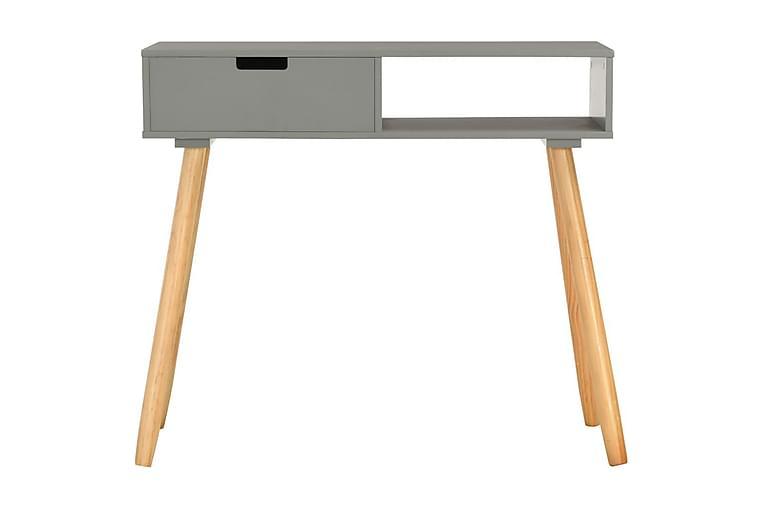 Sivupöytä harmaa 80x30x72 cm täysi mänty - Harmaa - Sisustustuotteet - Pienet kalusteet - Tarjotinpöydät & pienet pöydät