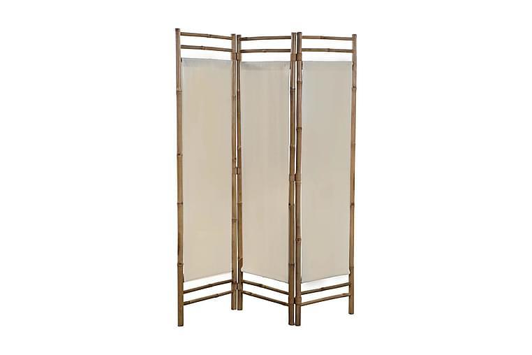 Kokoontaitettava huoneenjakaja bambu ja kangas 120cm - Kerma - Sisustustuotteet - Pienet kalusteet - Tilanjakajat & sermit