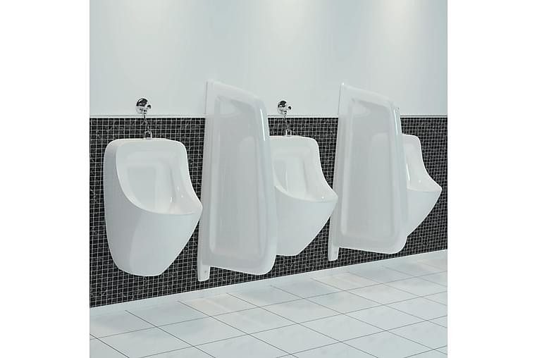 Seinään kiinnitettävä pisuaarin näkösuoja keraaminen - Valkoinen - Sisustustuotteet - Pienet kalusteet - Tilanjakajat & sermit