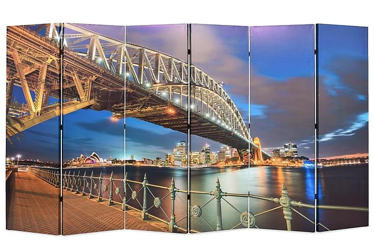 Taitettava huoneenjakaja 228x170 cm Sydney Harbour Bridge - Monivärinen - Sisustustuotteet - Pienet kalusteet - Tilanjakajat & sermit