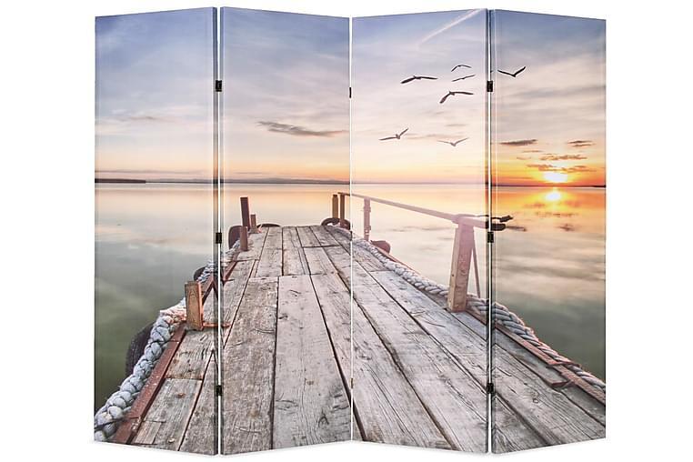 Taitettava tilanjakaja järvi 160x170 cm - Monivärinen - Sisustustuotteet - Pienet kalusteet - Tilanjakajat & sermit