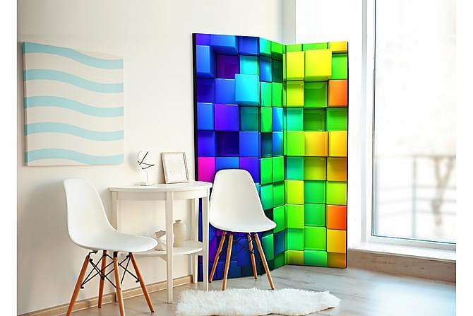 Huoneenjakaja Colourful Cubes 135x172 - Saatavana usean kokoisena - Sisustustuotteet - Pienet kalusteet - Tilanjakaja