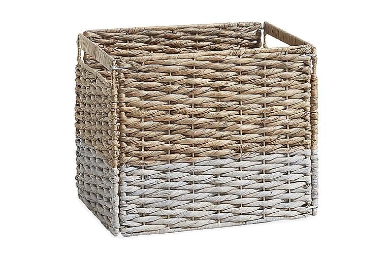 Puulaatikko Maurine 35 cm - Ruskea/Valkoinen - Sisustustuotteet - Sisustuslaatikot & korit - Laatikot