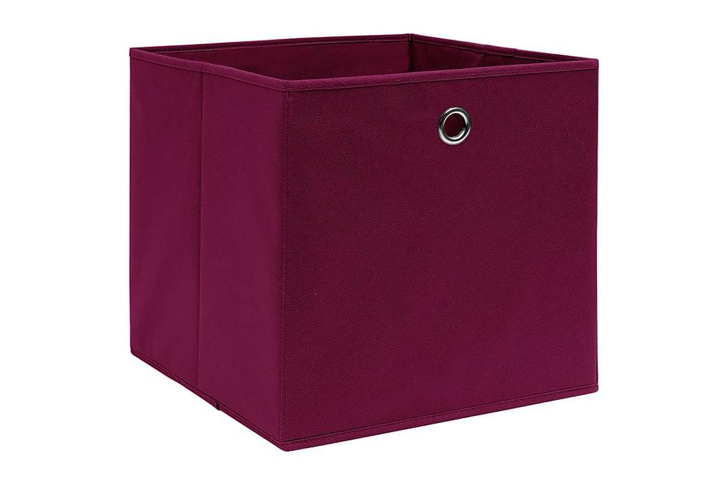 Säilytyslaatikot 10 kpl kuitukangas 28x28x28 cm tummanpunain - Punainen - Sisustustuotteet - Sisustuslaatikot & korit - Laatikot