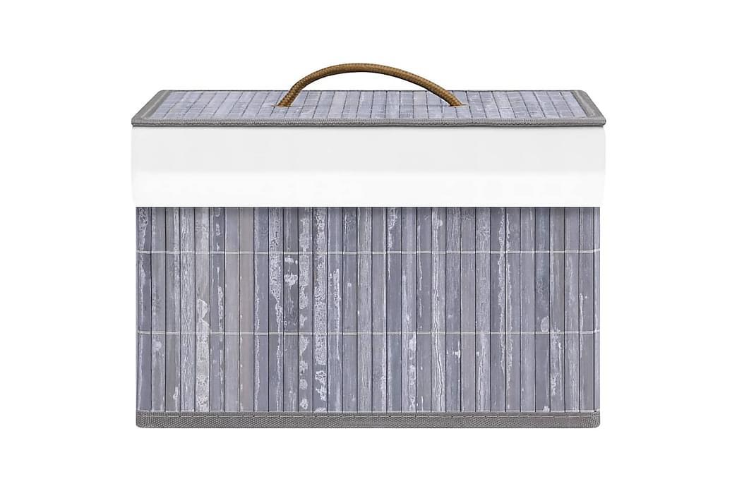 Säilytyslaatikot bambu 4 kpl harmaa - Harmaa - Sisustustuotteet - Sisustuslaatikot & korit - Laatikot
