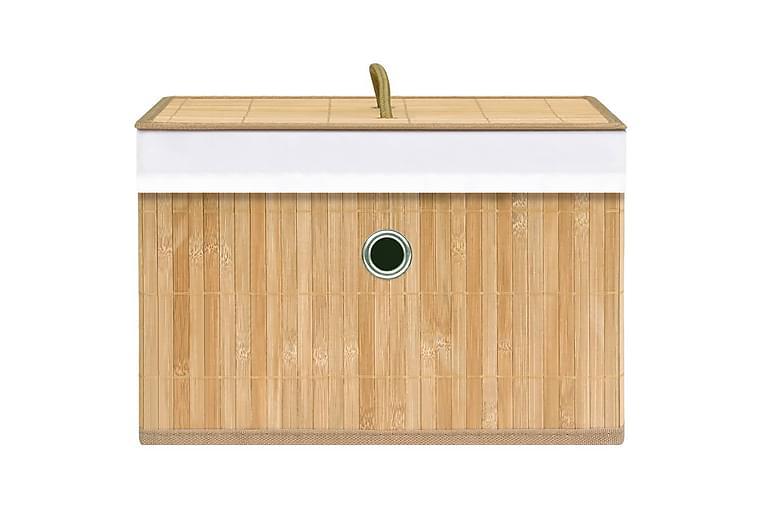 Säilytyslaatikot bambu 4 kpl - Ruskea - Sisustustuotteet - Sisustuslaatikot & korit - Laatikot