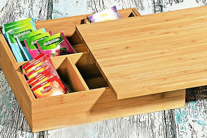 Teelaatikko Kosova 27 cm Bambu - Ruskea - Sisustustuotteet - Säilytyslaatikot & korit - Laatikot