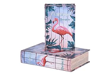 Kirjasäilytys Buckner 30 cm Flamingo 2:n setti