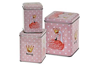 Purkki Gillian Flamingo Nelikulmainen Täplikäs 3:n setti