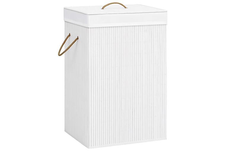Bambu pyykkikori valkoinen 72 l - Sisustustuotteet - Sisustuslaatikot & korit - Pyykkikorit