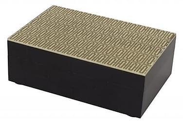 Laatikko Nuvola 4x6 cm Kulta/Musta/Puu