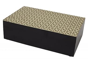Laatikko Nuvola 6x10 cm Kulta/Musta/Puu