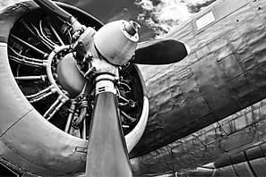 Canvas Airplane 80x120 cm