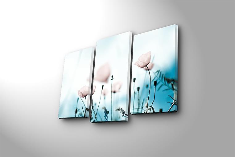 Canvastaulu 3-pak Monivärinen - 20x39 cm - Sisustustuotteet - Seinäkoristeet - Canvas-taulut