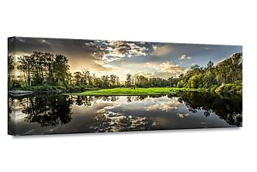 Green Sunset Taulu Canvas 60x150cm