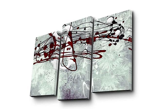 Koristeellinen Canvas Taulu (3 osaa) - Sisustustuotteet - Seinäkoristeet - Canvas-taulut