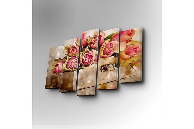 Koristeellinen Canvas Taulu (5 osaa) - Sisustustuotteet - Seinäkoristeet - Canvas-taulut