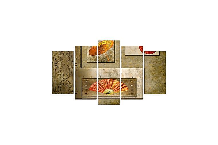 Koristeellinen MDF Maalaus (5 kpl) - Sisustustuotteet - Seinäkoristeet - Canvas-taulut