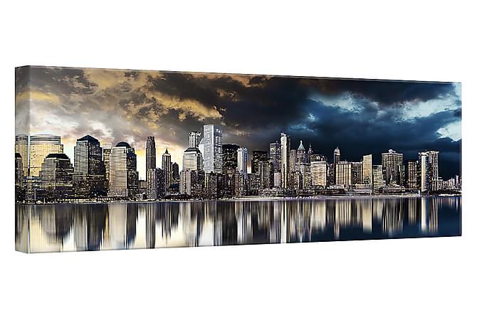 Taulu Canvas Hopea Gold City - 60x150 cm - Sisustustuotteet - Seinäkoristeet - Canvas-taulut