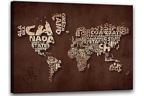 Taulu Canvas Maailmankartta