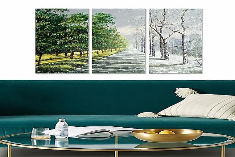 Canvastaulu Scenic 3-pak Monivärinen - 20x50 cm - Sisustustuotteet - Seinäkoristeet - Julisteet