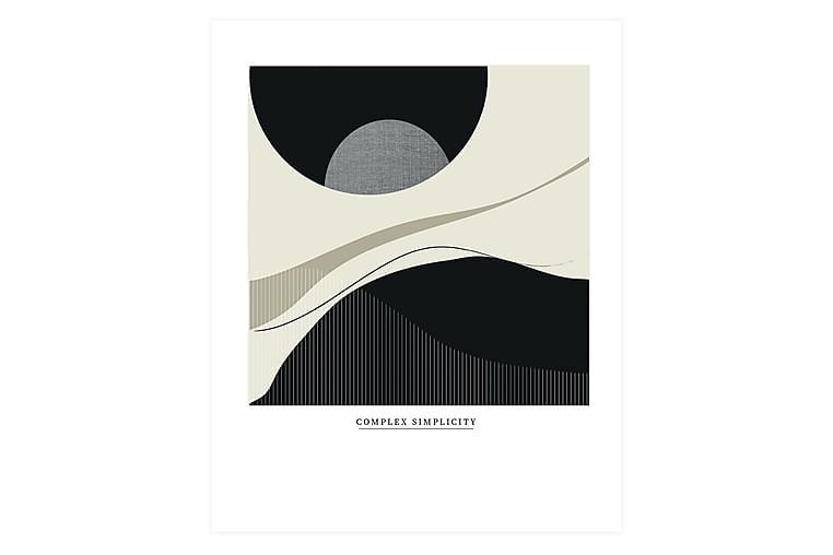 Juliste Complex Simplicity 50x70 cm - Harmaa / musta / beige - Sisustustuotteet - Seinäkoristeet - Julisteet