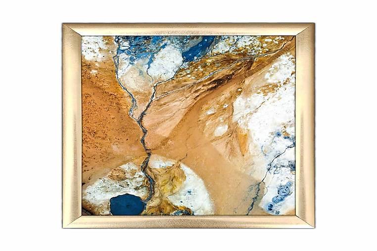 Taulu Abstract kehyksellä Monivärinen - 23,5x28,5 cm - Sisustustuotteet - Seinäkoristeet - Kehykset