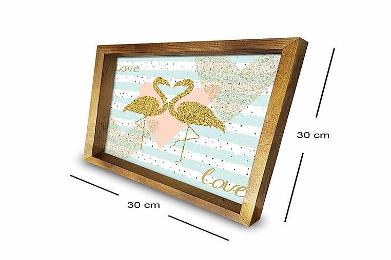 Taulu Animal kehyksellä Monivärinen - 30x30 cm - Sisustustuotteet - Seinäkoristeet - Kehykset