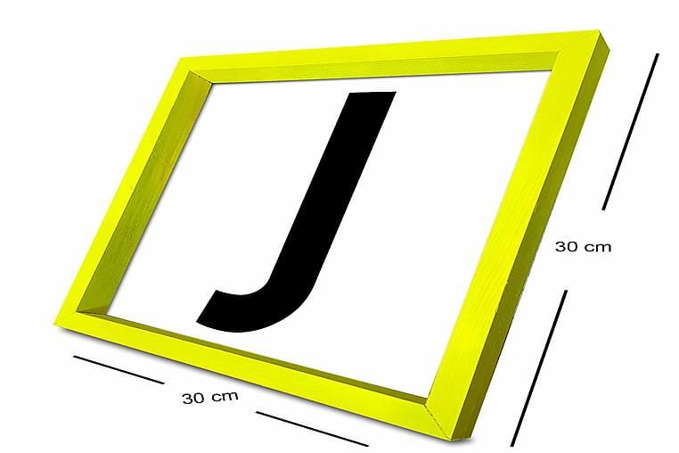 Taulu Letter kehyksellä Monivärinen - 30x30 cm - Sisustustuotteet - Seinäkoristeet - Kehykset