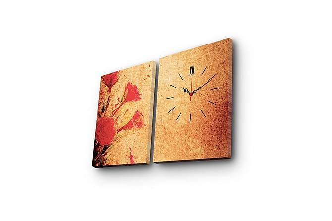 Koristeellinen Canvas Seinäkello (2 kpl) - Sisustustuotteet - Seinäkoristeet - Canvas-taulut
