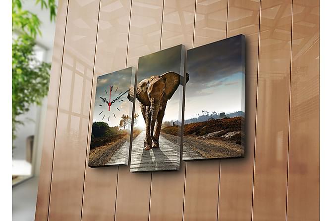 Koristeellinen Canvas Seinäkello (3 kpl) - Sisustustuotteet - Seinäkoristeet - Canvas-taulut