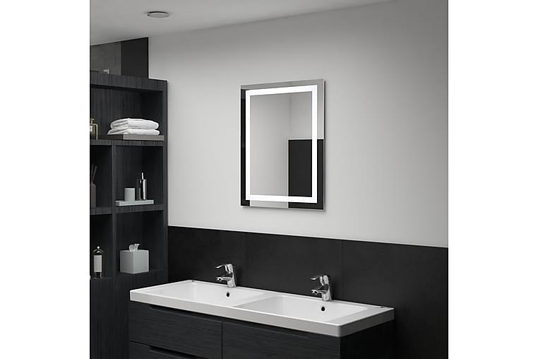 Kylpyhuoneen LED-peili kosketussensorilla 50x60 cm - Hopea - Sisustustuotteet - Seinäkoristeet - Peilit