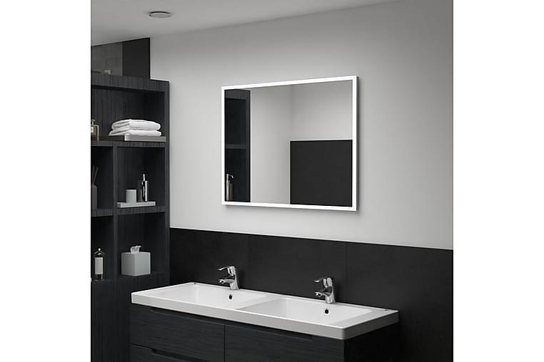 Kylpyhuoneen LED-seinäpeili 80x60 cm - Hopea - Sisustustuotteet - Seinäkoristeet - Peilit