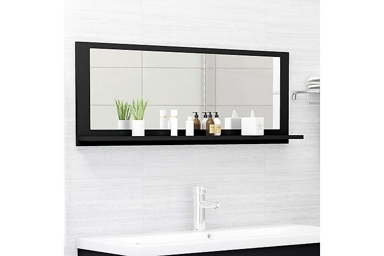 Kylpyhuonepeili musta 100x10,5x37 cm lastulevy - Musta - Sisustustuotteet - Seinäkoristeet - Peilit