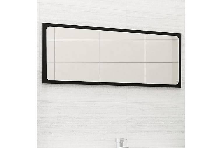 Kylpyhuonepeili musta 90x1,5x37 cm lastulevy - Sisustustuotteet - Seinäkoristeet - Peilit