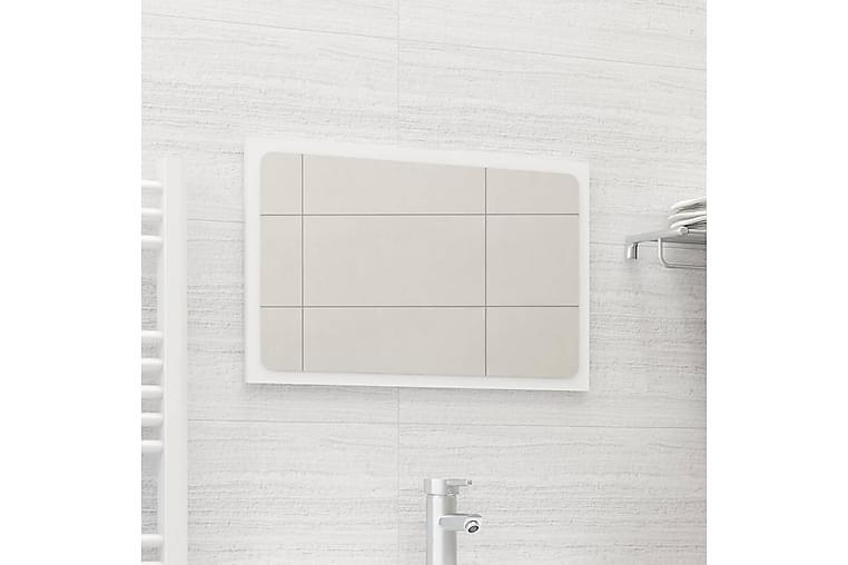 Kylpyhuonepeili valkoinen 60x1,5x37 cm lastulevy - Sisustustuotteet - Seinäkoristeet - Peilit