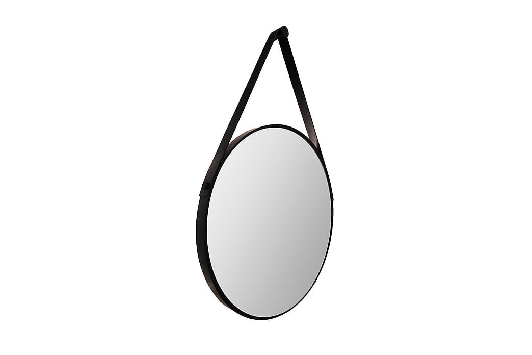 Peili Almunge 50 cm Pyöreä - Musta - Sisustustuotteet - Seinäkoristeet - Peilit