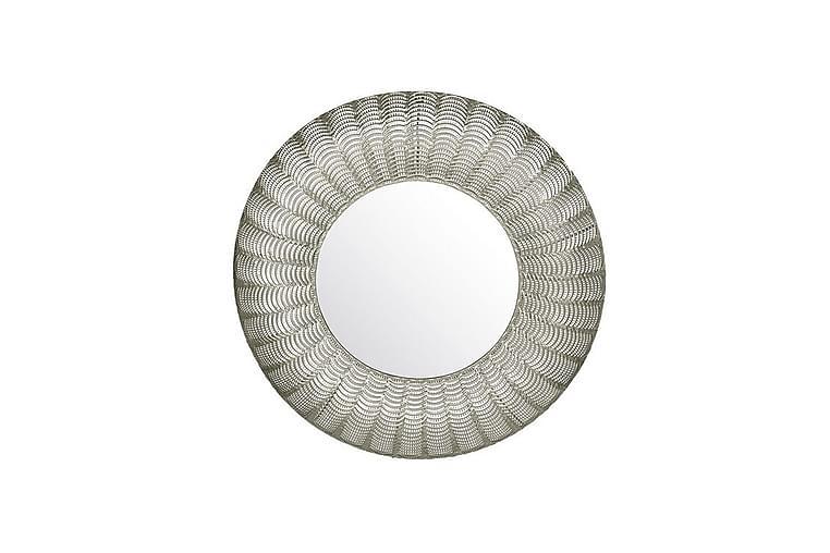 Peili Lilesara 77 cm pyöreä - Hopea - Sisustustuotteet - Seinäkoristeet - Peilit