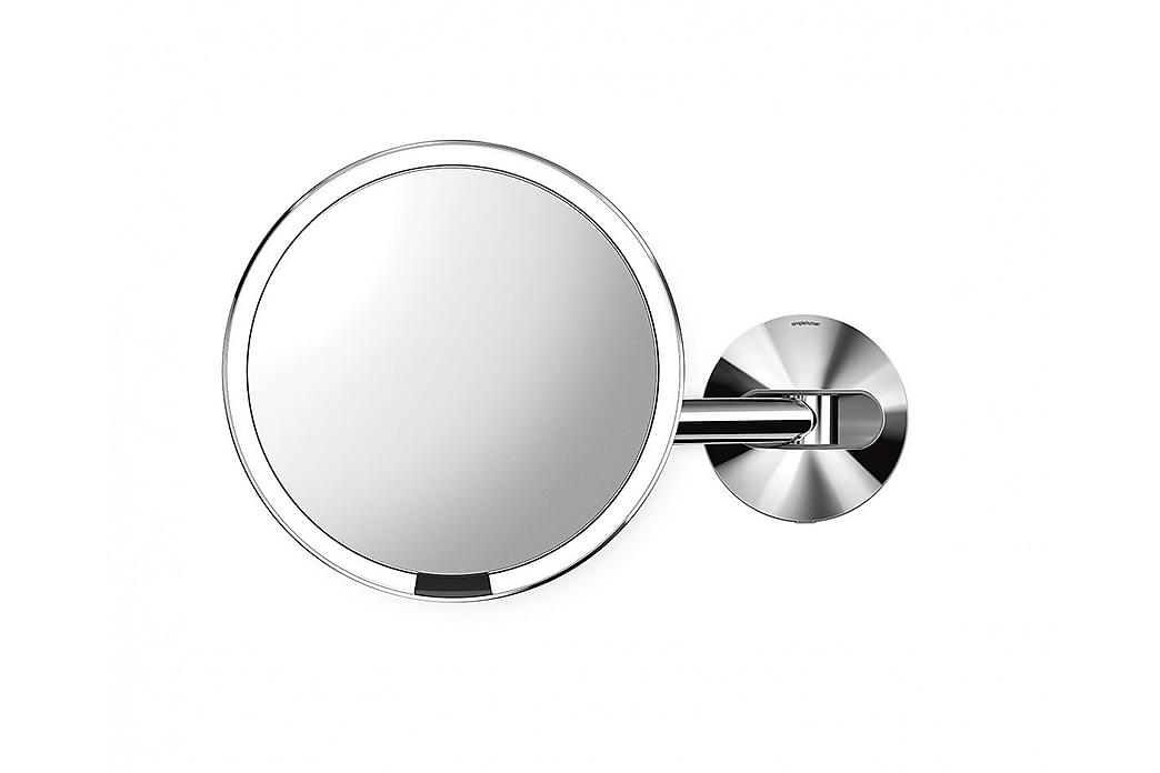 Peili Tunnistimella Seinälle LED 5xsuurennus - SimpleHuman - Sisustustuotteet - Seinäkoristeet - Peilit