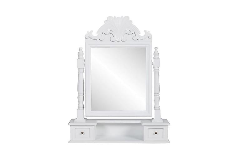 Pieni peilipöytä suorakulmaisella käännettävällä peililläm - Valkoinen - Sisustustuotteet - Seinäkoristeet - Peilit
