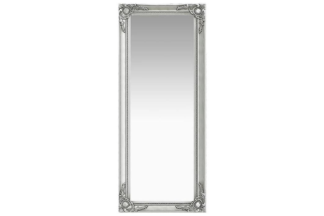 Seinäpeili barokkityylinen 50x120 cm hopea - Hopea - Sisustustuotteet - Seinäkoristeet - Peilit