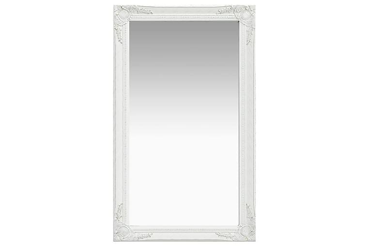 Seinäpeili barokkityylinen 60x100 cm valkoinen - Valkoinen - Sisustustuotteet - Seinäkoristeet - Peilit
