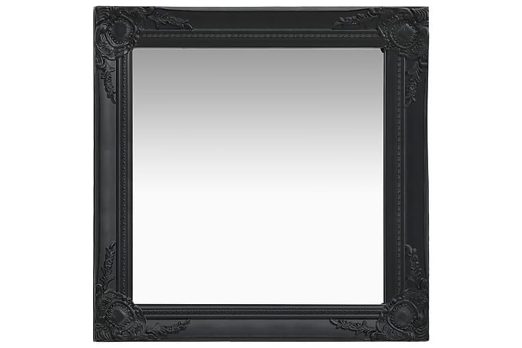Seinäpeili barokkityylinen 60x60 cm musta - Musta - Sisustustuotteet - Seinäkoristeet - Peilit
