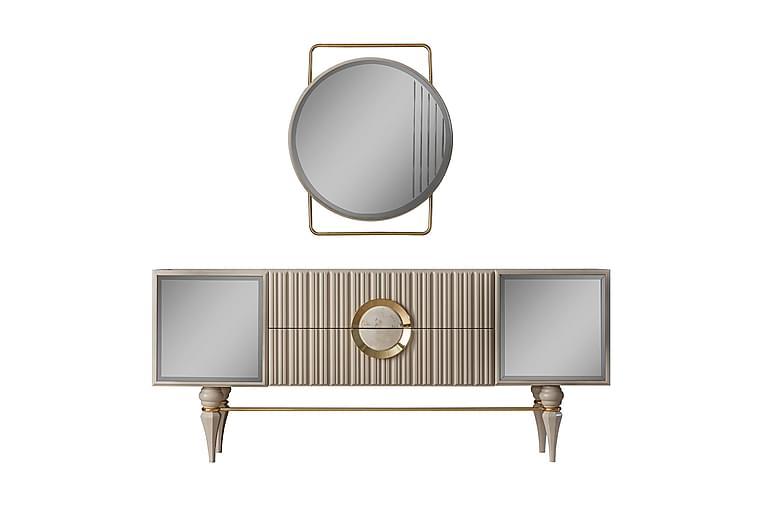 Seinäpeili Hisari 80x94 cm - Beige/Kulta - Sisustustuotteet - Seinäkoristeet - Peilit