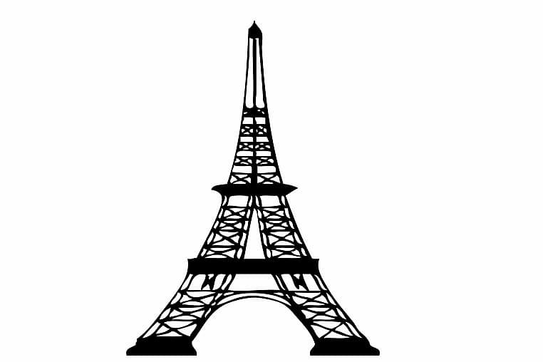 Sisustustarra 24x48 cm City Paris - Vinyyli/Musta - Sisustustuotteet - Seinäkoristeet - Seinätarrat